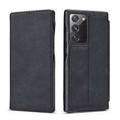 Custodia Portafoglio In Pelle Cover con Supporto N09 per Samsung Galaxy Note 20 5G Nero
