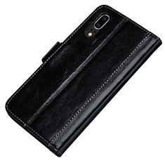 Custodia Portafoglio In Pelle Cover con Supporto P01 per Huawei P20 Nero
