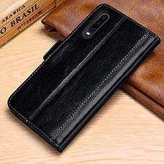 Custodia Portafoglio In Pelle Cover con Supporto P01 per Huawei P30 Nero