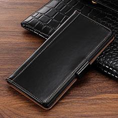 Custodia Portafoglio In Pelle Cover con Supporto P01 per Samsung Galaxy Note 10 Nero