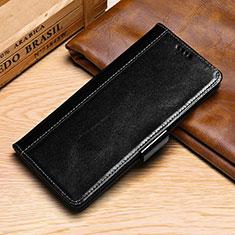 Custodia Portafoglio In Pelle Cover con Supporto P01 per Samsung Galaxy S10e Nero
