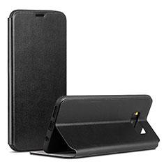Custodia Portafoglio In Pelle Cover con Supporto P01 per Samsung Galaxy S8 Nero
