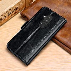 Custodia Portafoglio In Pelle Cover con Supporto P02 per Huawei Mate 20 Lite Nero