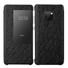 Custodia Portafoglio In Pelle Cover con Supporto P02 per Huawei Mate 20 Pro Nero