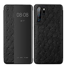 Custodia Portafoglio In Pelle Cover con Supporto P02 per Huawei P30 Pro Nero