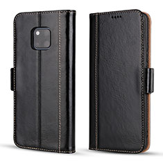 Custodia Portafoglio In Pelle Cover con Supporto P03 per Huawei Mate 20 Pro Nero