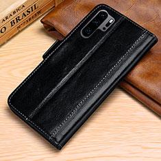 Custodia Portafoglio In Pelle Cover con Supporto P03 per Huawei P30 Pro Nero