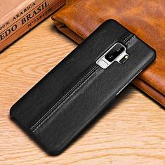 Custodia Portafoglio In Pelle Cover con Supporto P03 per Samsung Galaxy S9 Plus Nero
