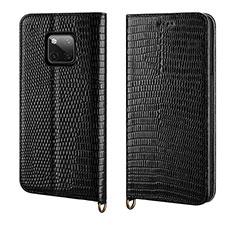 Custodia Portafoglio In Pelle Cover con Supporto P04 per Huawei Mate 20 Pro Nero