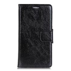 Custodia Portafoglio In Pelle Cover con Supporto per Alcatel 1 Nero