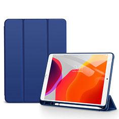 Custodia Portafoglio In Pelle Cover con Supporto per Apple iPad 10.2 (2020) Blu
