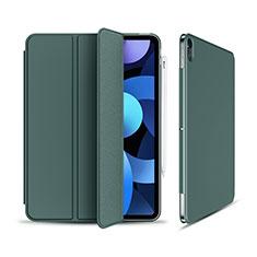 Custodia Portafoglio In Pelle Cover con Supporto per Apple iPad Air 4 10.9 (2020) Verde