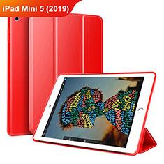 Custodia Portafoglio In Pelle Cover con Supporto per Apple iPad Mini 5 (2019) Rosso