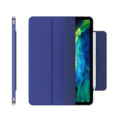 Custodia Portafoglio In Pelle Cover con Supporto per Apple iPad Pro 12.9 (2020) Blu