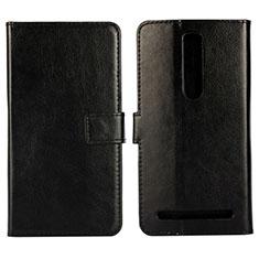 Custodia Portafoglio In Pelle Cover con Supporto per Asus Zenfone 2 ZE551ML ZE550ML Nero