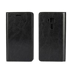 Custodia Portafoglio In Pelle Cover con Supporto per Asus Zenfone 3 ZE552KL Nero