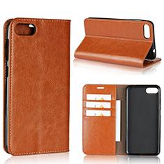 Custodia Portafoglio In Pelle Cover con Supporto per Asus Zenfone 4 Max ZC554KL Arancione