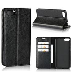 Custodia Portafoglio In Pelle Cover con Supporto per Asus Zenfone 4 Max ZC554KL Nero
