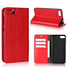 Custodia Portafoglio In Pelle Cover con Supporto per Asus Zenfone 4 Max ZC554KL Rosso