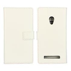 Custodia Portafoglio In Pelle Cover con Supporto per Asus Zenfone 5 Bianco