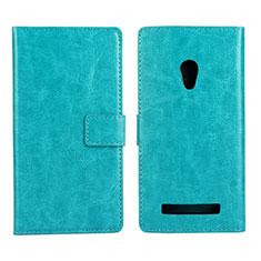 Custodia Portafoglio In Pelle Cover con Supporto per Asus Zenfone 5 Ciano