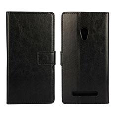 Custodia Portafoglio In Pelle Cover con Supporto per Asus Zenfone 5 Nero