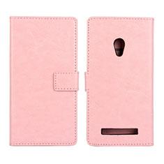 Custodia Portafoglio In Pelle Cover con Supporto per Asus Zenfone 5 Rosa