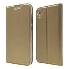Custodia Portafoglio In Pelle Cover con Supporto per Asus ZenFone Live L1 ZA550KL Oro
