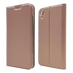 Custodia Portafoglio In Pelle Cover con Supporto per Asus ZenFone Live L1 ZA550KL Oro Rosa