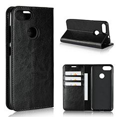 Custodia Portafoglio In Pelle Cover con Supporto per Asus Zenfone Max Plus M1 ZB570TL Nero