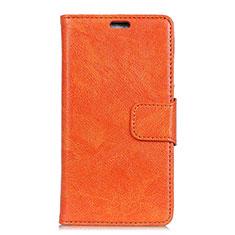 Custodia Portafoglio In Pelle Cover con Supporto per Asus Zenfone Max Pro M1 ZB601KL Arancione