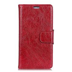 Custodia Portafoglio In Pelle Cover con Supporto per Asus Zenfone Max Pro M1 ZB601KL Rosso