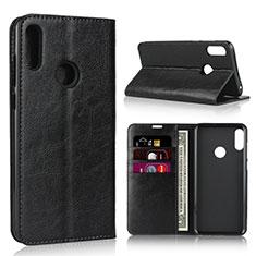 Custodia Portafoglio In Pelle Cover con Supporto per Asus Zenfone Max Pro M2 ZB631KL Nero