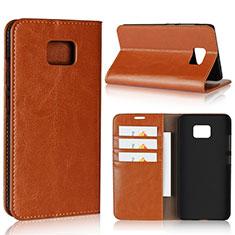 Custodia Portafoglio In Pelle Cover con Supporto per Asus ZenFone V V520KL Arancione