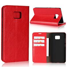 Custodia Portafoglio In Pelle Cover con Supporto per Asus ZenFone V V520KL Rosso