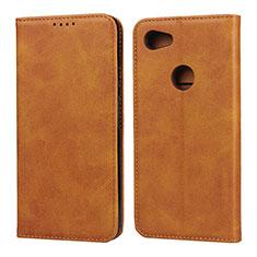 Custodia Portafoglio In Pelle Cover con Supporto per Google Pixel 3a Arancione