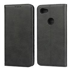Custodia Portafoglio In Pelle Cover con Supporto per Google Pixel 3a Nero