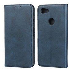 Custodia Portafoglio In Pelle Cover con Supporto per Google Pixel 3a XL Blu