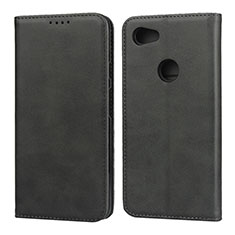 Custodia Portafoglio In Pelle Cover con Supporto per Google Pixel 3a XL Nero