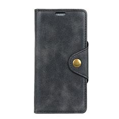 Custodia Portafoglio In Pelle Cover con Supporto per HTC Desire 12 Plus Nero