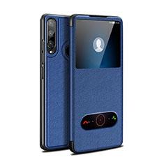 Custodia Portafoglio In Pelle Cover con Supporto per Huawei Enjoy 10 Plus Blu