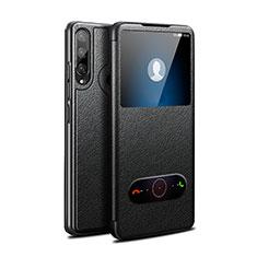Custodia Portafoglio In Pelle Cover con Supporto per Huawei Enjoy 10 Plus Nero
