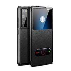 Custodia Portafoglio In Pelle Cover con Supporto per Huawei Enjoy 20 Pro 5G Nero