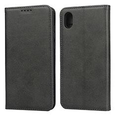 Custodia Portafoglio In Pelle Cover con Supporto per Huawei Enjoy 8S Nero