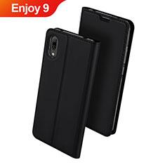 Custodia Portafoglio In Pelle Cover con Supporto per Huawei Enjoy 9 Nero
