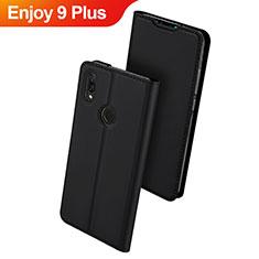 Custodia Portafoglio In Pelle Cover con Supporto per Huawei Enjoy 9 Plus Nero