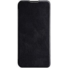 Custodia Portafoglio In Pelle Cover con Supporto per Huawei Enjoy 9s Nero
