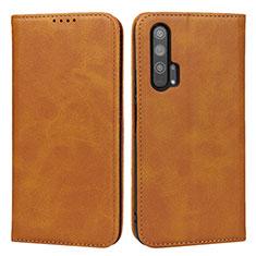 Custodia Portafoglio In Pelle Cover con Supporto per Huawei Honor 20 Pro Arancione