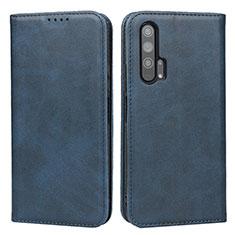 Custodia Portafoglio In Pelle Cover con Supporto per Huawei Honor 20 Pro Blu