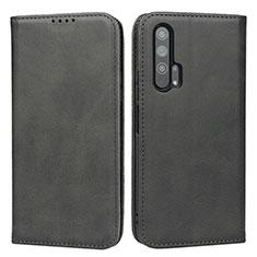 Custodia Portafoglio In Pelle Cover con Supporto per Huawei Honor 20 Pro Nero